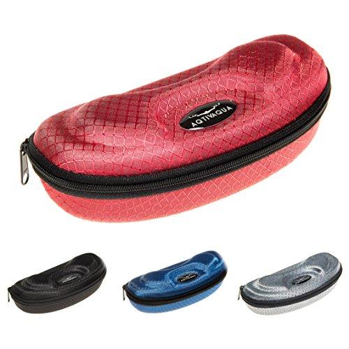 AqtivAqua Hartschalenetui zum Schutz für Schwimmbrillen und Sonnenbrillen (Farbe Rot)