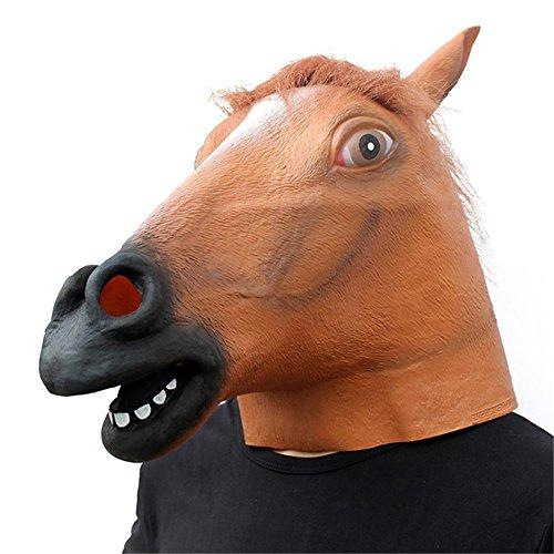 SQCOOL Halloween Pferd Kopf Maske Make-up Tanz Stützen Kopfbedeckung Hochwertige Latex Tier (Maske Zombie Pferd Kopf)