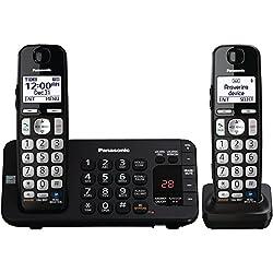 Panasonic KX-TGE242B DECT 6.0 Expandable Digital Cordless Answering System, 2 Handsets