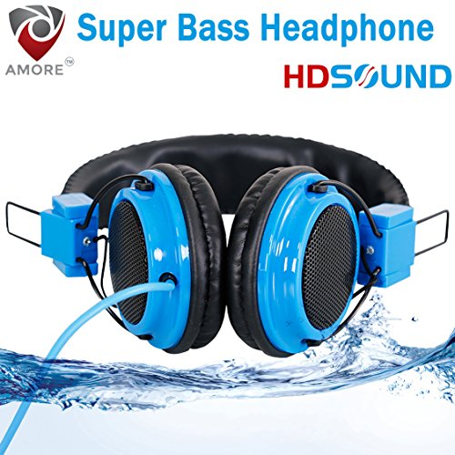 Amore Wired Headphones with Mic Stereo Headphone with Extra Bass Hi-Definition Premium Sound Quality Noise Cancellation Headphones Compatible with Samsung, OnePlus, Motorola, Sony, LG, HTC, Lenovo, OPPO, Vivo, Microsoft, Nokia, Asus, Letv, Xiaomi, Coolpad, Micromax, Honor, Intex, Karbonn, Meizu, iBall, Lava, Huawei, and all other mobile devices, tablets, (With Mic Function For Calling)  available at amazon for Rs.499