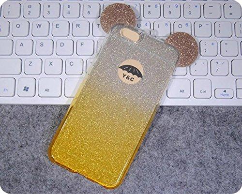 Vandot morbida in silicone TPU flessibile gel Bella 3D Creativo Cute Cartoon Buck denti quarto di Cover Custodia Cover Custodia Case Cover Portafoglio coprire per iPhone 6S Plus / 6 Plus(5.5 pollici)0 design 006