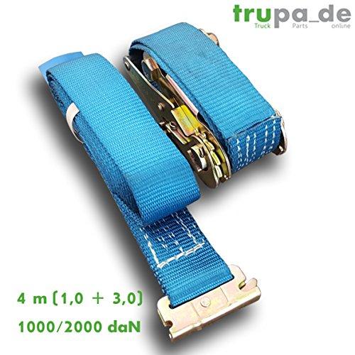 Preisvergleich Produktbild Spanngurt 4m (1, 0+3, 0) / 1000-2000 daN Ankerschiene Kombischiene Langlochschiene