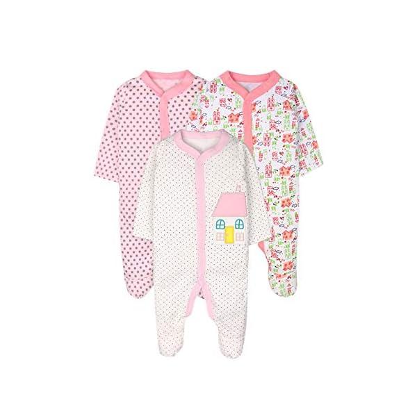 ZEVONDA Body para Bebés Niños y Niñas de 100% Algodón - Manga Corta/Manga Larga/Mameluco Pijamas para Recién Nacido 0-18… 1