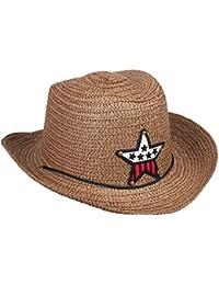 Broadroot Enfant Paille Braid Cowboy Rétro Chapeau de Soleil Fille Garçon  Casquette étoile d27c01b2b06