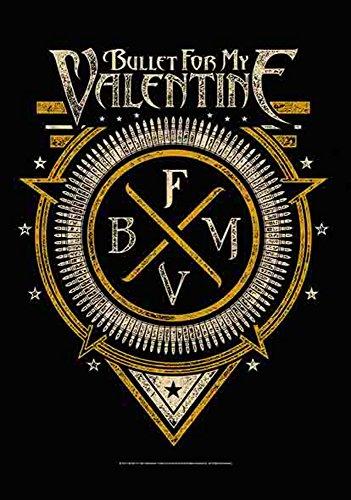 Bullet For My Valentine-simbolo-Poster Bandiera Bandiera-100% poliestere-Dimensioni 75x 110cm