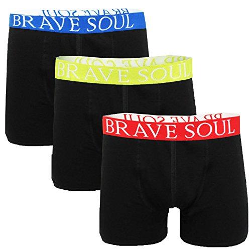 Brave Soul Herren Relaxed Retroshort schwarz schwarz Small Jay Black - Red Yellow Blue