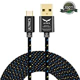 Micro USB Cable ULTRICS® Nylon Braided Charger Cable 10ft / 3M Tangle Free Sync Charge USB Android Charger Lead for Samsung Galaxy, Sony, Nokia, Microsoft, HTC, Motorola, Kindle, Nexus, Huawei, LG, Xiaomi, OPPO - Lifetime Warranty, Money back Guarantee - Black