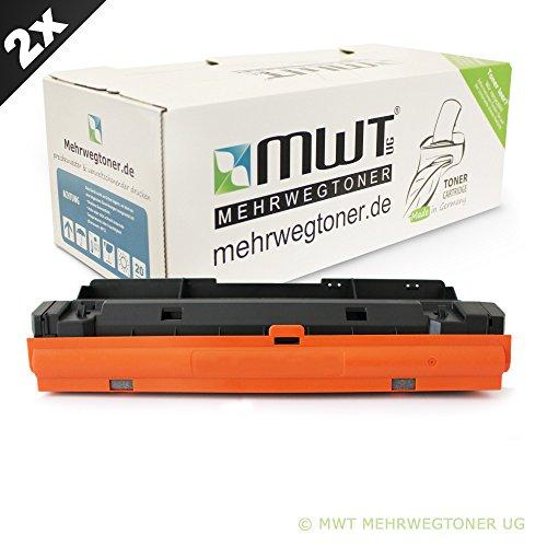 Preisvergleich Produktbild 2x XXL MWT-Toner für Samsung ProXpress SL-M3825 & SL-M4025 / M3875 & M4075 ersetzt MLT-D204E/ELS 10.000 Seiten Version Patronen Original Mehrwegtoner ( ISO-Norm 19798 )