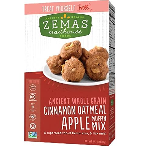 Zema'S Madhouse Foods Muffin Mix Cinnamon Oatmeal Apple 1617.73 Oz (Pack of 6)