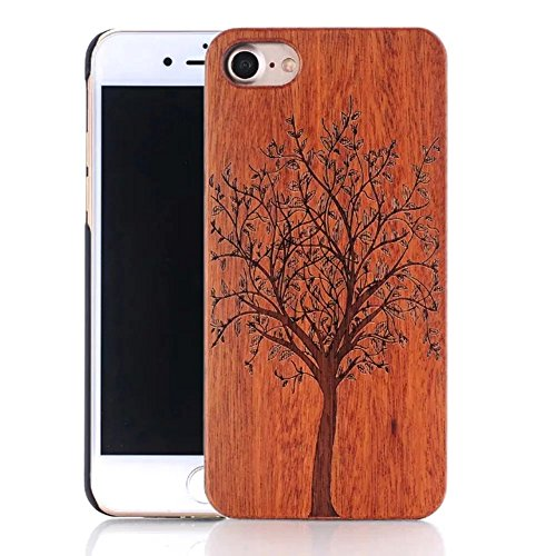 iPhone 6s Plus Hülle, iPhone 6 Plus Hülle, Vandot Holz Handyhülle iPhone 6s Plus / 6 Plus Schutzhülle Ultra Dünn Echtem Wood Hart Case Cover mit PC Hard Bumper Handytasche Retro Handmade Muster Patter Design 1