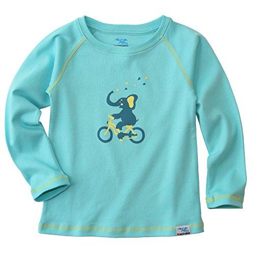 IceDrake Kinder Langarm-Shirt Elefant (türkis) aus Bio Baumwolle