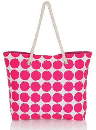 Boutique , Borsa da spiaggia Rosa (Pink Punkte)