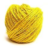 #8: Klera Colored 75 Meter Jute Twine - 2mm Diameter - Eco-Friendly Natural Jute String Rope (Yellow)