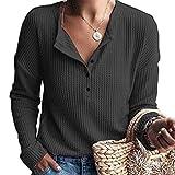 Damen Pullover O-Ausschnitt Sweater - Frauen Oberteile Langarm Shirt Jumper Strickpullover Tops Strickpulli Herbst und Winter Sweatshirt Große Größen Oberteil
