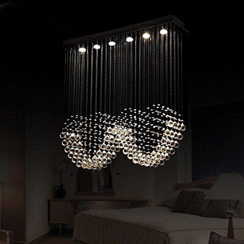 modern deckenlampe double crystal kronleuchter