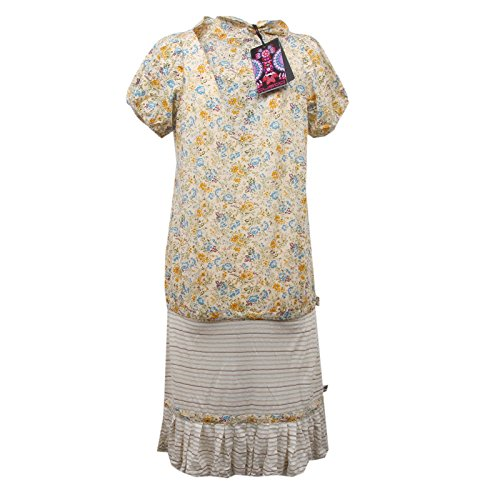 D6076 vestito donna CUSTO BARCELONA beige cotton dress woman Beige