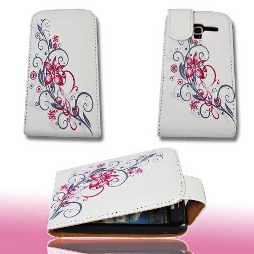 PeKa Internethandel Custodia Flip Style-Design No. 2-Custodia Cover Case per Samsung i8160Galaxy Ace 2