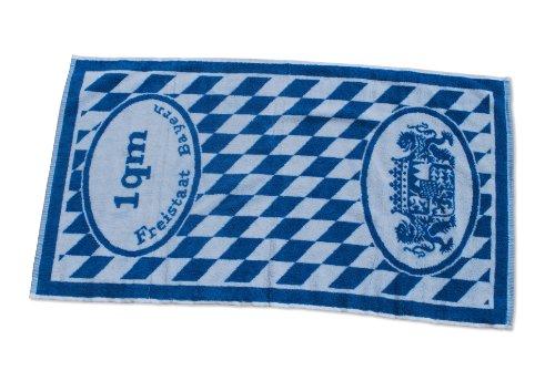 Handtuch 1 Quadrameter Bayern Blau-Weiß 90x50 cm
