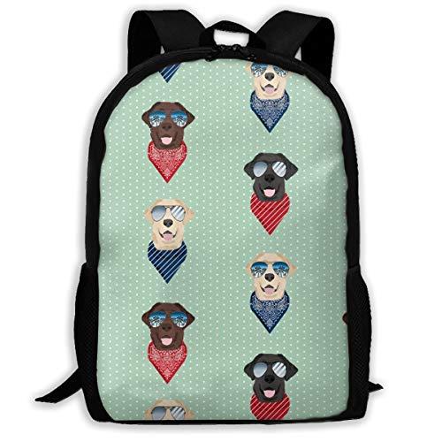 Labrador-Sonnenbrille, Sommer-/Strand-Bandana, Stoff, Mint_659, für Reisen, Laptop, Rucksack, extra groß, für Schule und Studenten, klassischer Rucksack