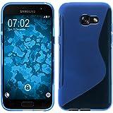Coque en Silicone pour Samsung Galaxy A5 2017 - S-Style bleu - Cover PhoneNatic Cubierta + films de protection