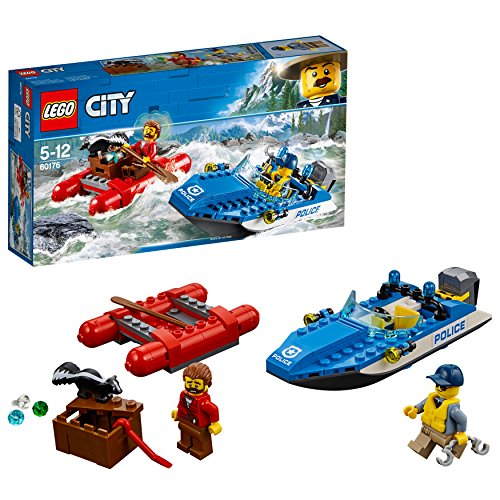 LEGO City 60176 - Gebirgspolizei Flucht durch die Stromschnellen, Beliebtes Kinderspielzeug (Park Lego City)