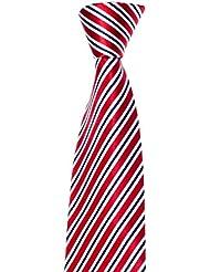 Krawatte von Mailando, mit Streifen, rot – weiß