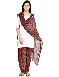 Funfabrics Women Cotton Solid Full Free Size Plain Patiala Salwar Dupatta Set Cotton Patiala Dupatta