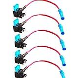 E Support™ 5Pcs Mini ATM APM Flachsicherungsadapter Sicherungshalter f¨¹r Spannungsabgriff KFZ Flachsicherungen Autosicherungs
