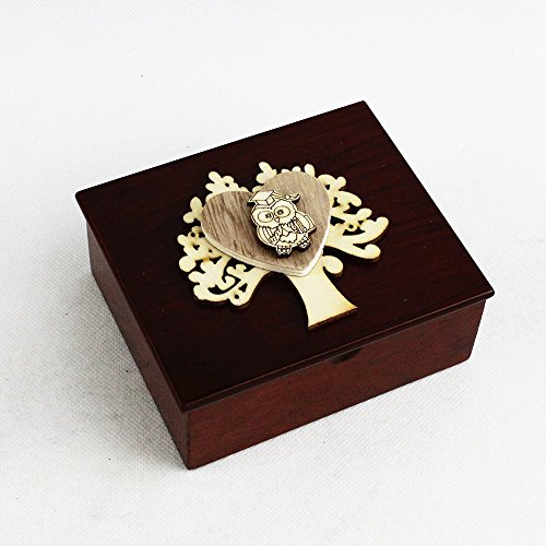 Dlm26697 (kit 6 pezzi) scatola portagioie albero della vita cuore e gufo gufetto laurea bomboniera