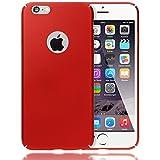 NALIA Handyhülle für iPhone 6 6S, Dünnes Hard-Case Schutz-Hülle Matt, Ultra-Slim Cover Etui leichte Handy-Tasche, Ultra-Slim Smart-Phone Backcover Skin Bumper für Apple iPhone 6S, Farbe:Rot