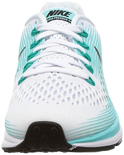 Nike Damen Wmns Air Zoom Pegasus 34 Laufschuhe Elfenbein (White/black/aurora Green)