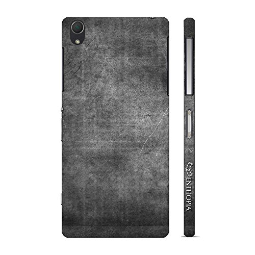 Enthopia Designer Hardshell Case CHARCOAL GRUNGE Back Cover for Sony Xperia Z2