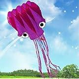 5 Mètres 3D Cerf-volant Pieuvre Violet, Alien Attack!