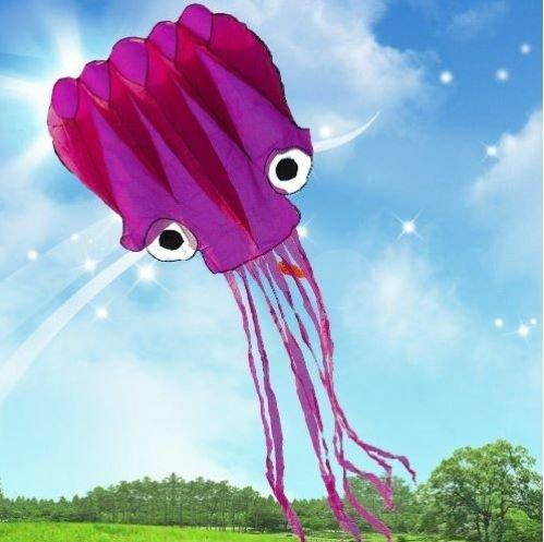 5M Octopus 3D Krake Einleiner Drachen Kite Geschenkidee Spielzeug für draußen