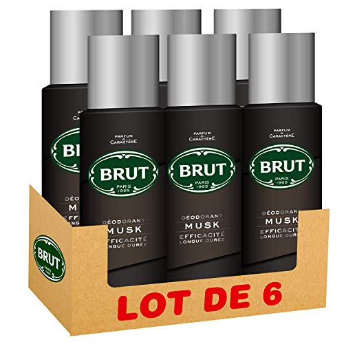 Brut déodorant homme spray Musk 200ml - Pack de 6