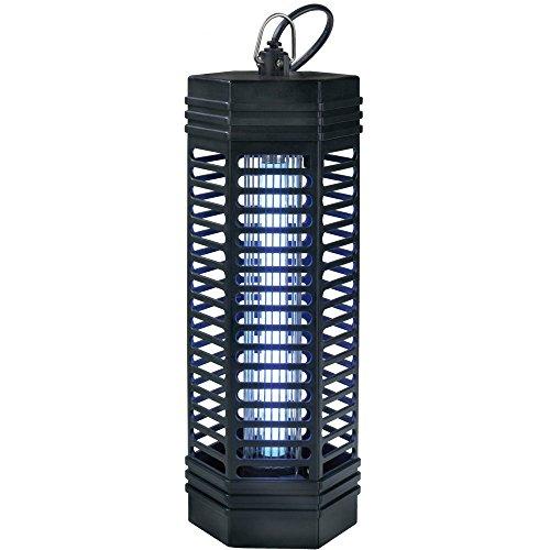 Trampa de luz para insectos de 1000 voltios 1 x 11 Watt alcance de hasta 90 m² - Lámpara antimosquitos con luz Ultravioleta