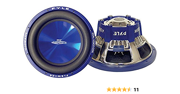 Pyle Plbw84 600w Blue Wave Hochleistungs Subwoofer 8 Zoll