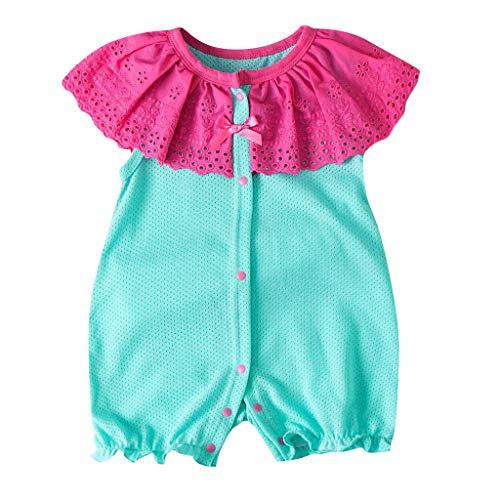 Sanahy Baby Strampler Mädchen Jumpsuit Neugeborenes Sommer Pyjama Baumwolle Kurzarm-Body 3-12 Monate -