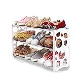 LUYIASI- Einfache Multi-Layer-Home Economic Dormitory Staubdicht Lagerung Schuhschrank Space Assembly Kleine Schuhregal (60x19x35cm) shoe rack ( Farbe : Weiß )