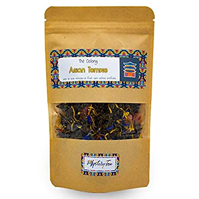 MysteryTea - ASIAN TEMPLE - Thé Oolong saveur Grenade Baies de Goji Pêche - (Doypack 60g = 30 tasses)