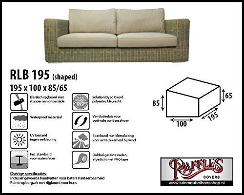 Raffles Covers rt200 Housse de Protection pour Table de Jardin rectangulaire, 200 cm