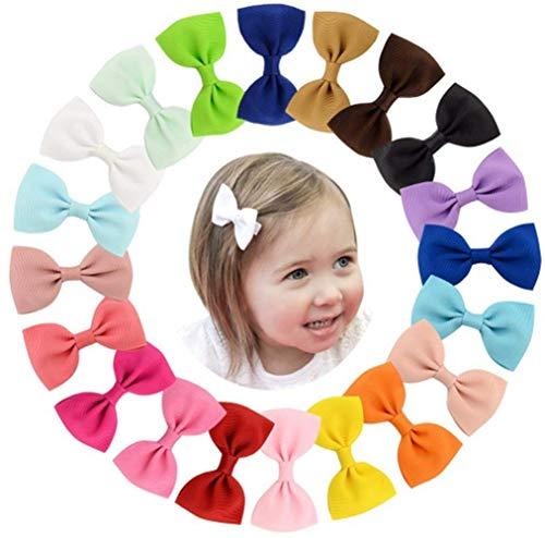 Toruiwa 20x Pinces à Cheveux Barrettes à Cheveux Nœuds Papillon Bowknot Clips Couverts Filles Multicolore