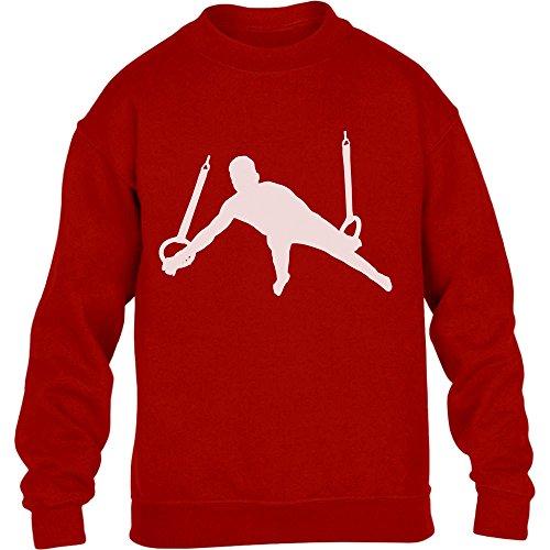 Männer Turner Silhuette Fanartikel Geschenk Kinder Pullover Sweatshirt X-Small Rot