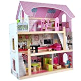 Puppenhaus Bandits & Angels, Angels Villa aus Holz mit Möbeln