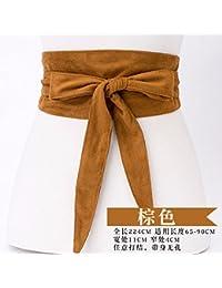 Mode ceinture en daim arc femme large décoratif chandail robe manteau  ceinture ceinture 9be2504c58d