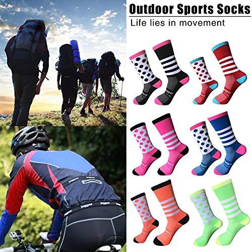SHOH Calcetines Deportivos Ideales para Ciclismo, Hombre Y Mujer, Ciclismo De Montaña, Spinning, Bicicleta...