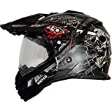 Broken Head Road Pirate Black Edition | Enduro Helm - MX Motocross Helm mit Sonnenblende Größe XXL (63-64 cm)