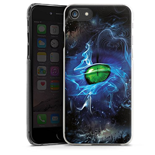 Apple iPhone X Silikon Hülle Case Schutzhülle Augen Grün Eye Hard Case transparent