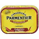 Parmentier Sardines à l'Huile d'Olive et au Piment 135 g - Lot de 8
