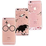 Freessom Lot de 3 Coque iPhone 6 plus/6s Plus SiliconeTransparente Motif Univers...